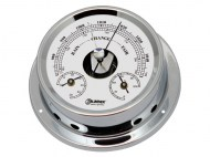 Talamex Boot Baro-Thermo-Hygrometer Serie 125 Messing Verchroomd