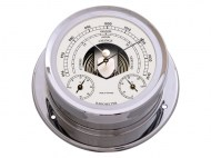 Talamex Boot Baro-thermo-hygrometer Serie 165 Messing Verchroomd